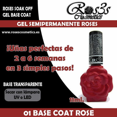 01-Gel Base Roses 15 ml