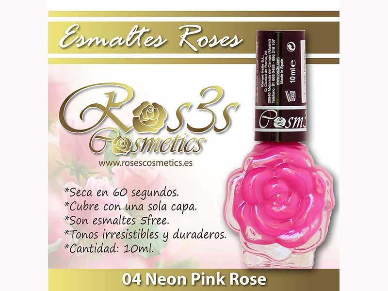 Esmalte Roses: 04 NEON PINK ROSE