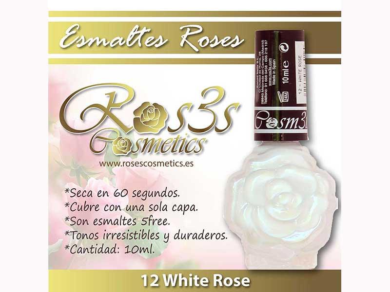 Esmalte Roses: 12  WHITE ROSE