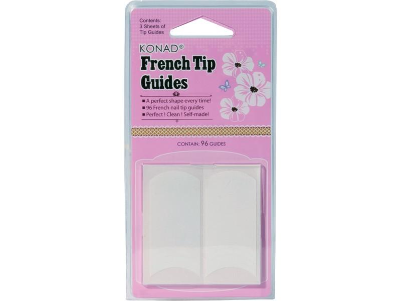 Guías adhesivas manicura francesa manos
