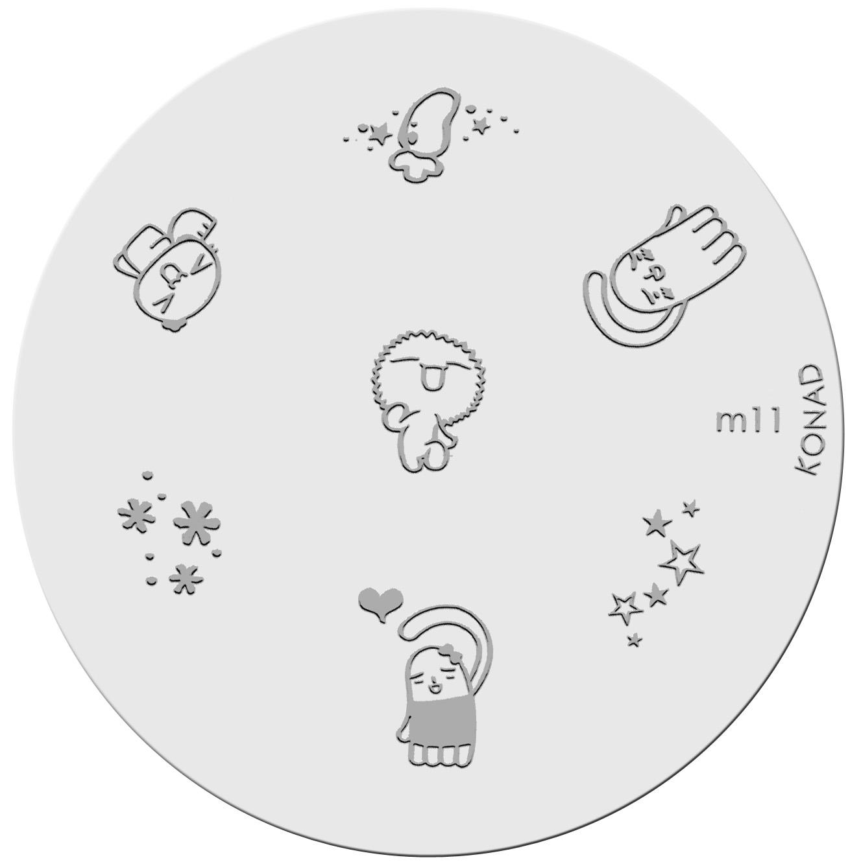 Placa de diseños KONAD. m11