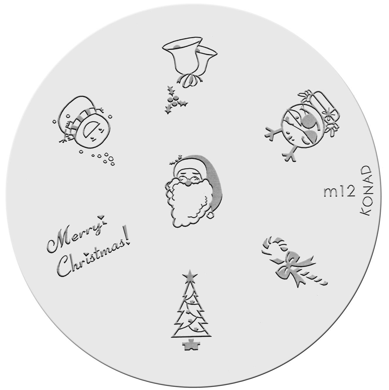 Placa de diseños KONAD. m12