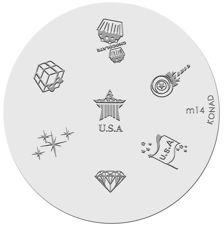 Placa de diseños KONAD. m14