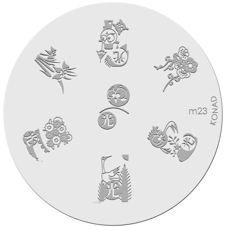 Placa de diseños KONAD. m23