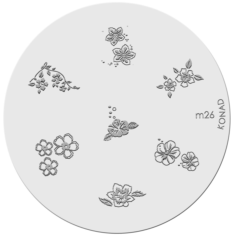 Placa de diseños KONAD. m26