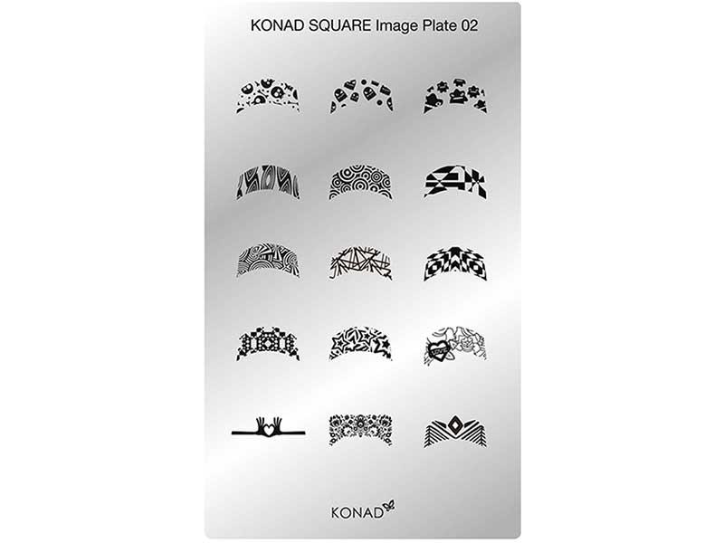 Placa de diseños rectangular KONAD. c02