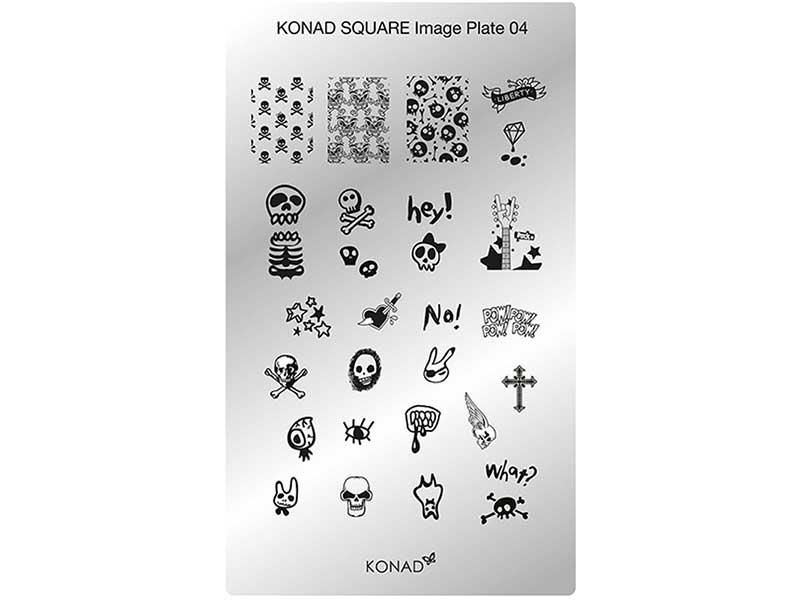 Placa de diseños rectangular KONAD. c04