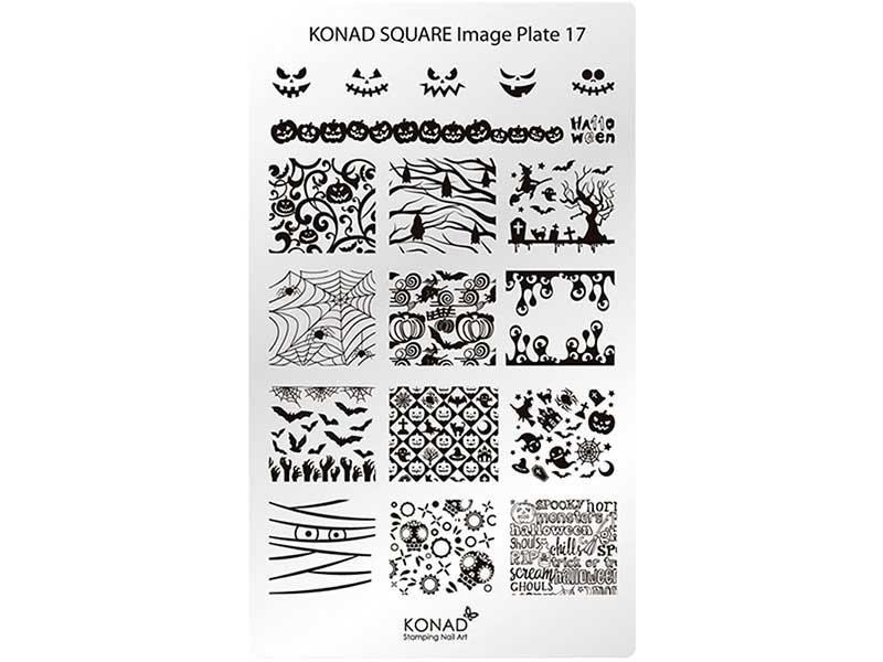 Placa de diseños rectangular KONAD. c17