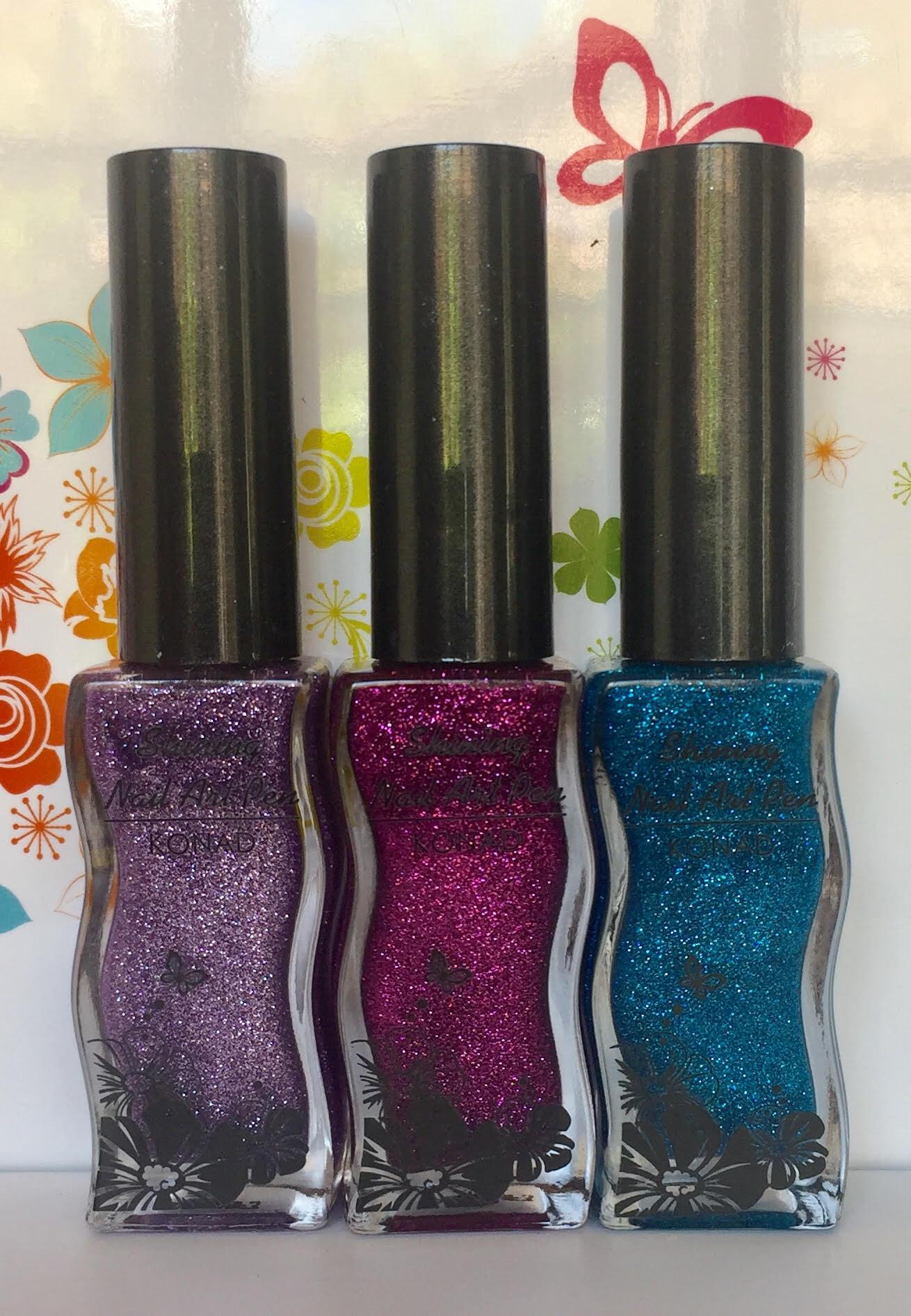 Set 3 Shining Nail Art Pen Konad