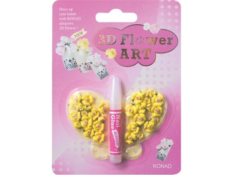 Flores 3D amarilla