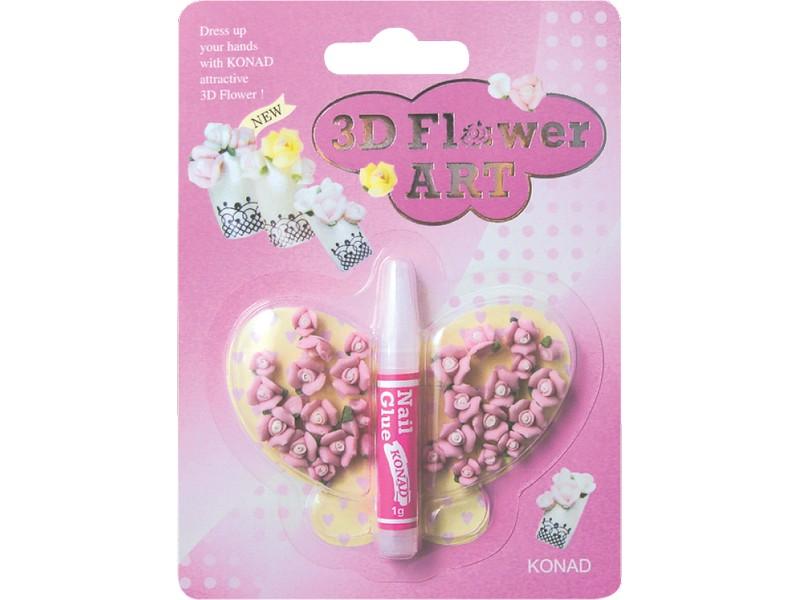 Flores 3D rosa