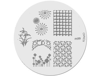 Placa de Diseños KONAD. m99