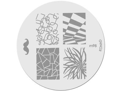 Placa de Diseños KONAD. m98