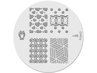 Placa de Diseños KONAD. m95