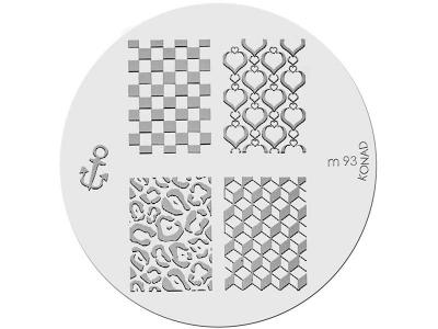 Placa de Diseños KONAD. m93