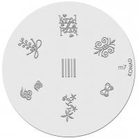 Placa de diseños KONAD. m 7
