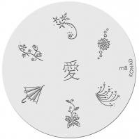 Placa de diseños KONAD. m 8