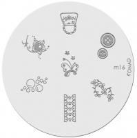 Placa de diseños KONAD. m16