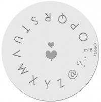 Placa de diseños KONAD. m18
