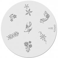 Placa de diseños KONAD. m32