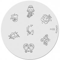 Placa de diseños KONAD. m33