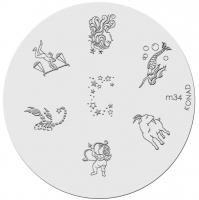 Placa de diseños KONAD. m34
