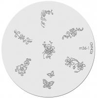Placa de diseños KONAD. m36-1