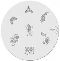 Placa de diseños KONAD. m39