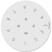 Placa de diseños KONAD. m42