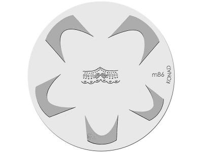 Placa de diseños KONAD. m86