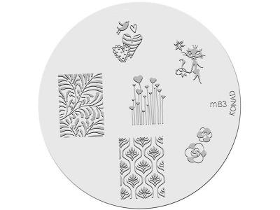 Placa de diseños KONAD. m83