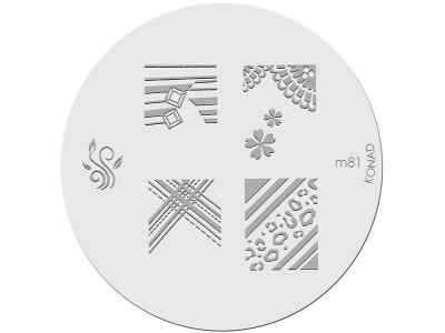 Placa de diseños KONAD. m81