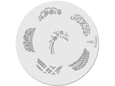 Placa de diseños KONAD. m80
