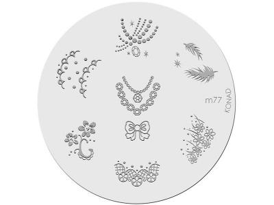 Placa de diseños KONAD. m77