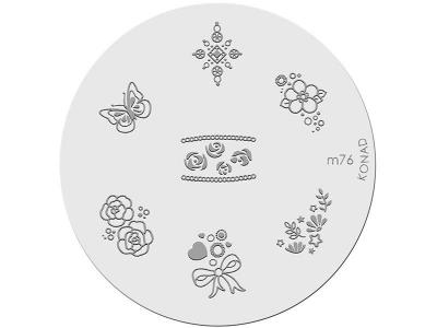 Placa de diseños KONAD. m76