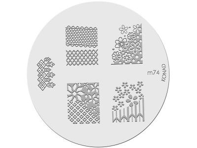 Placa de diseños KONAD. m74