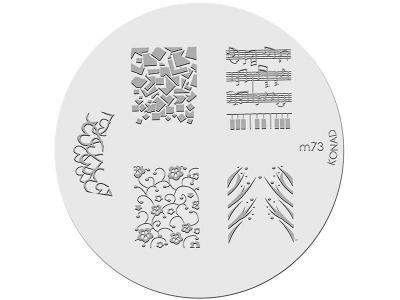 Placa de diseños KONAD. m73