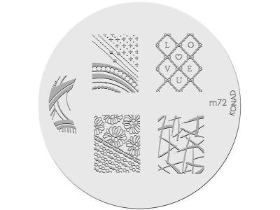 Placa de diseños KONAD. m72