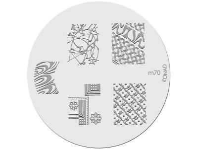 Placa de diseños KONAD. m70