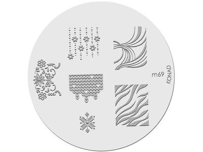 Placa de diseños KONAD. m69