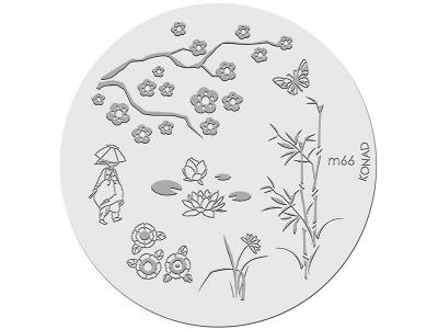 Placa de diseños KONAD. m66