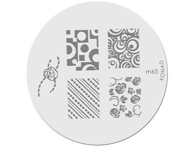 Placa de diseños KONAD. m65