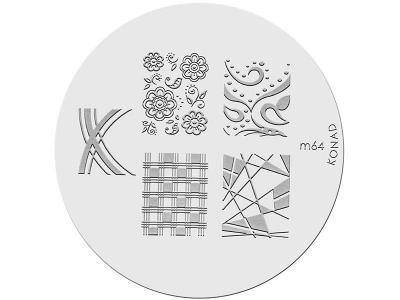 Placa de diseños KONAD. m64