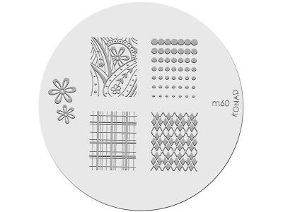 Placa de diseños KONAD. m60