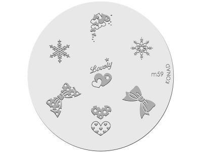 Placa de diseños KONAD. m59