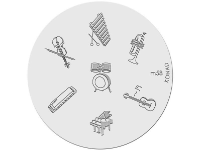 Placa de diseños KONAD. m58