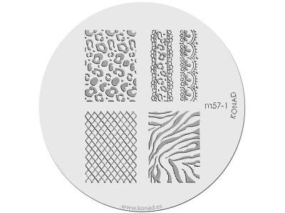 Placa de diseños KONAD. m57-1