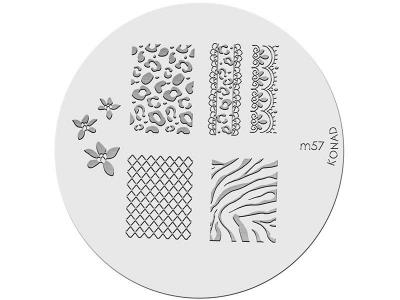 Placa de diseños KONAD. m57