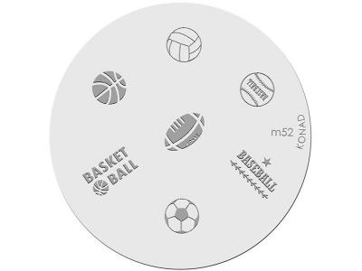 Placa de diseños KONAD. m52