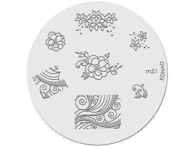 Placa de diseños KONAD. m51
